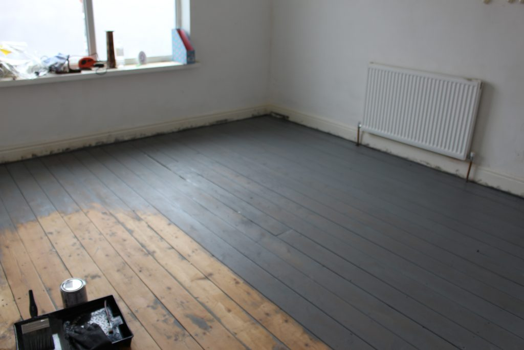How To Paint And Varnish Wood Floors Turning A House