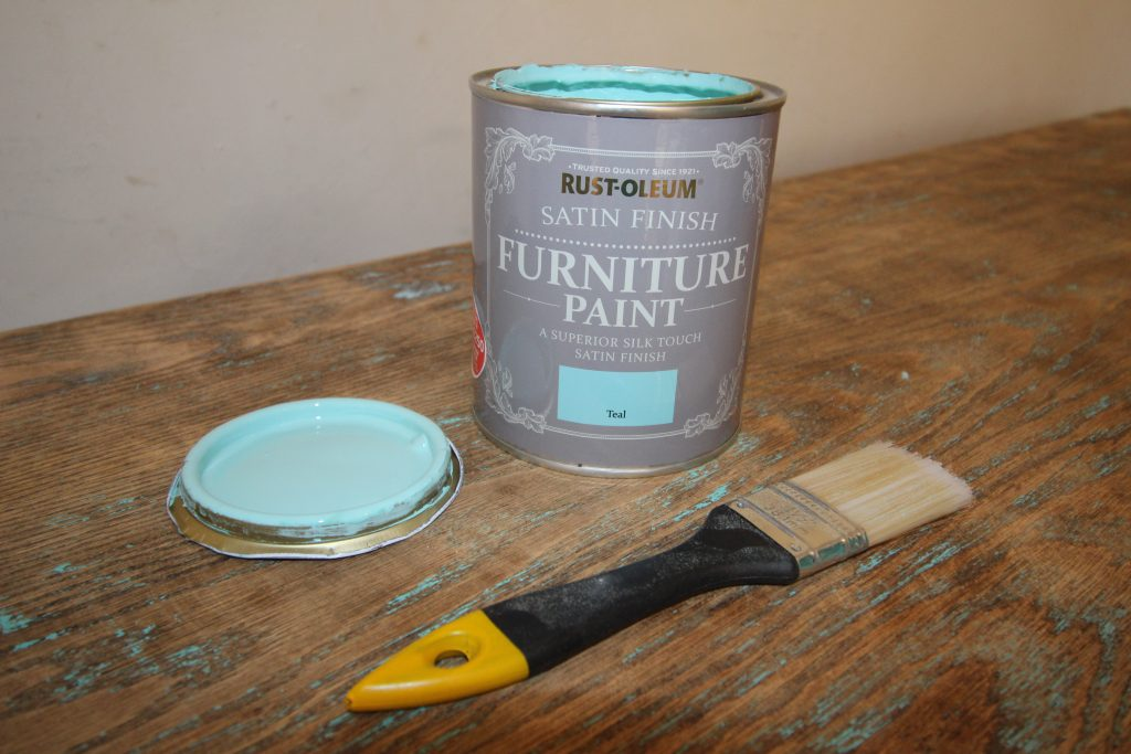 Rustoleum Teal Satin Finish paint
