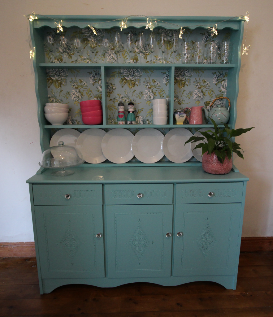 Welsh dresser after painting