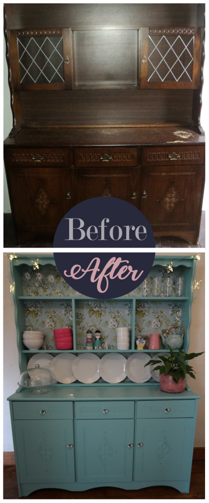 Welsh dresser before and after painting