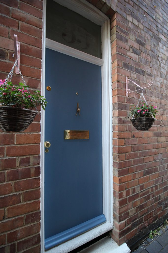 After painting the front door