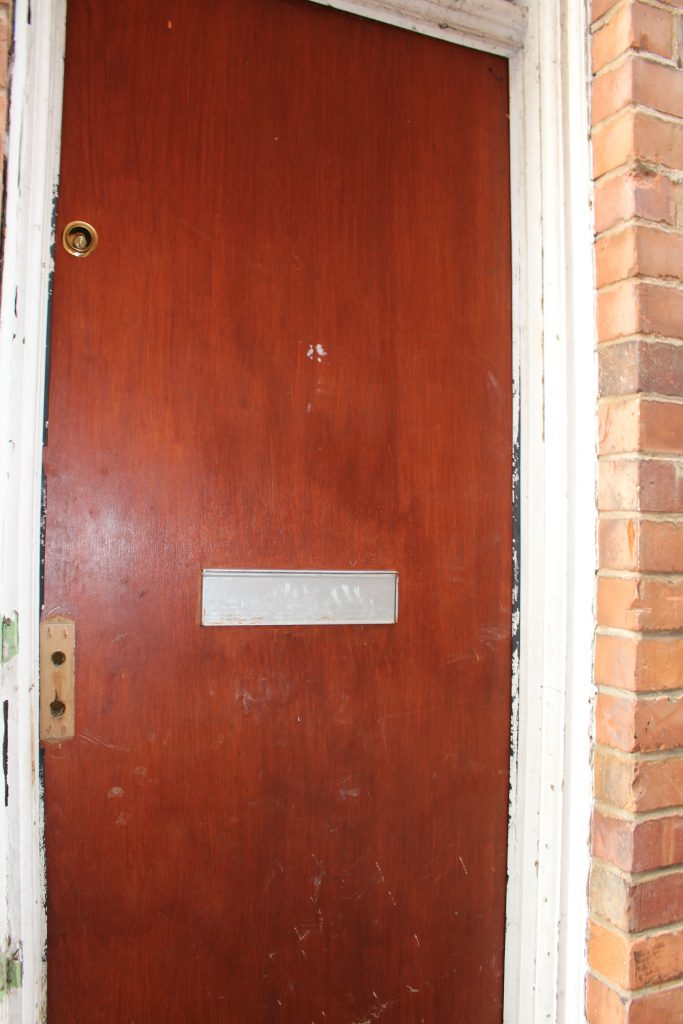 The front door before I started