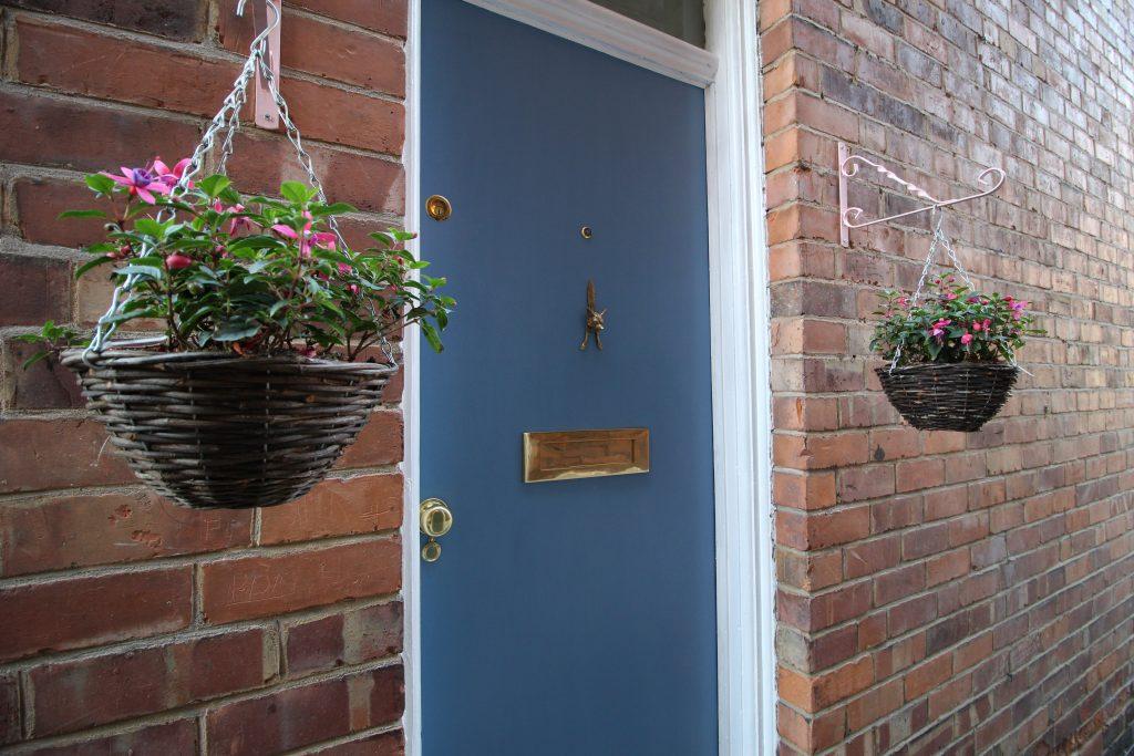 Front door after painting
