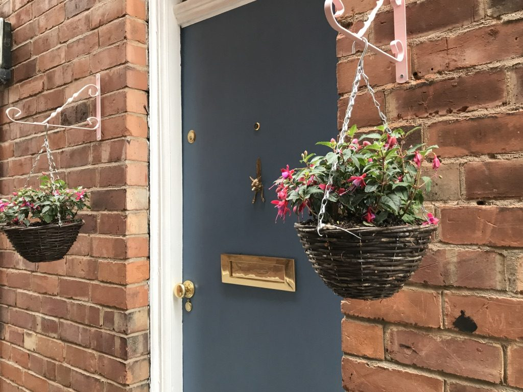 Front door after painting