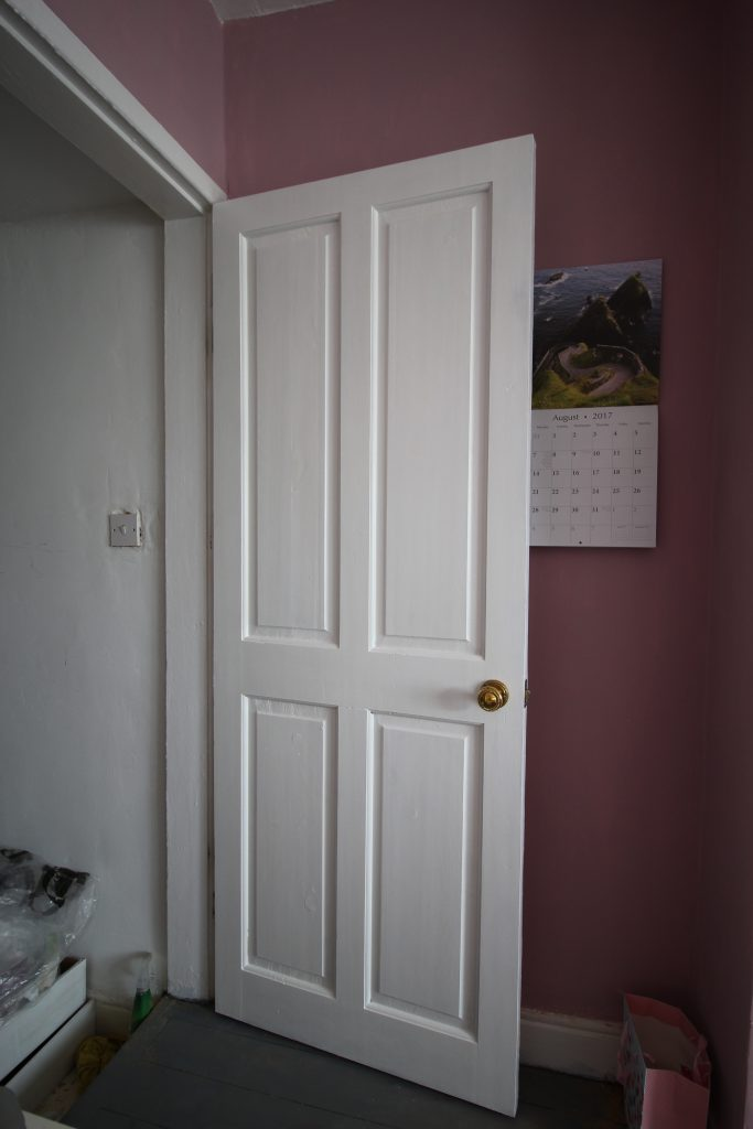 A much improved bedroom door