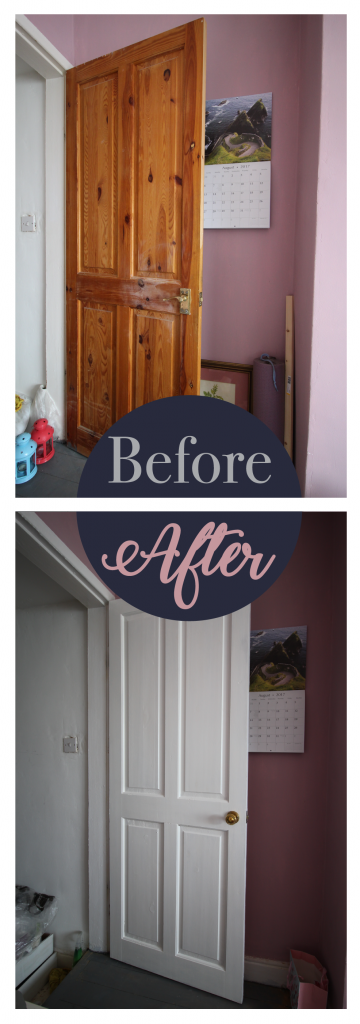 Painted doors before and after