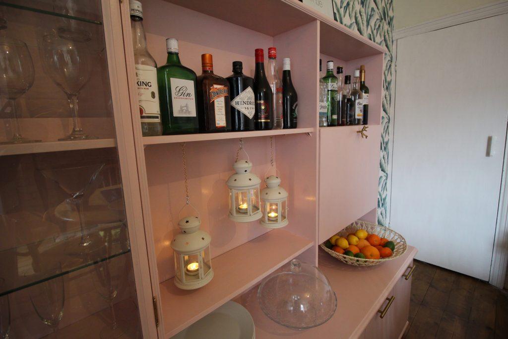 Pink home bar