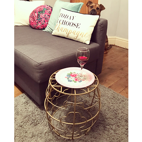 Day 10 great find gold metallic side table