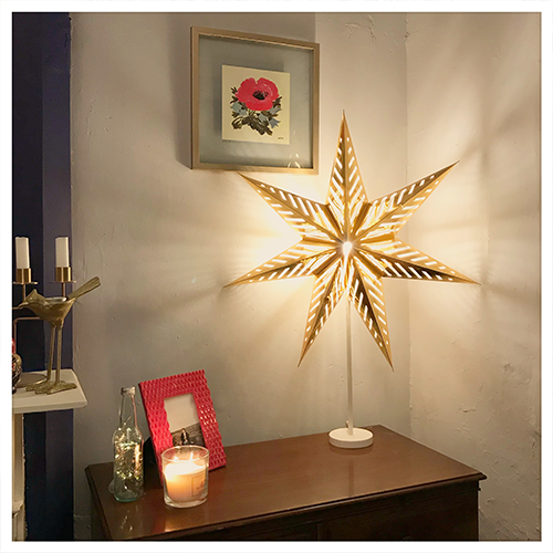 Day 13 lamp gold ikea star lamp