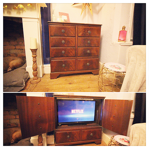 Day 17 wood tv cabinet