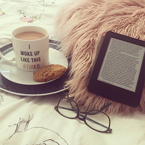 Day 19 duvet days kindle and cup of tea