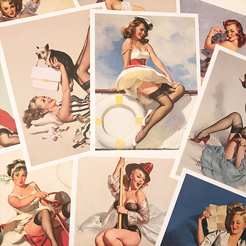 Day 27 gallery wall Gil Elvgren pinups