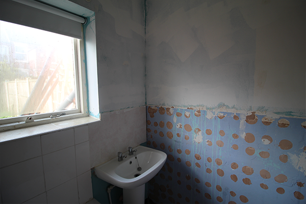 Bathroom before transformation