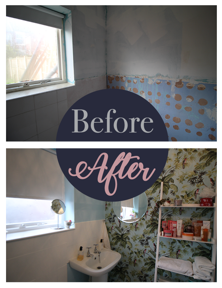 Before after bathroom makeover