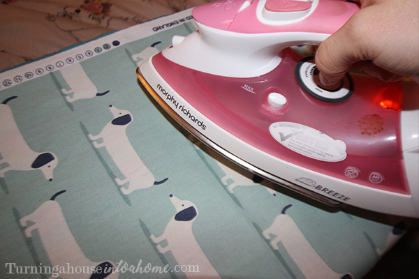 Iron your fabric before you start working with it