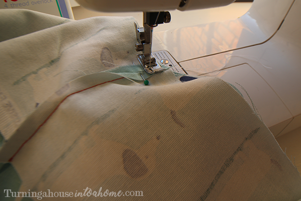 Sew along the side you pinned